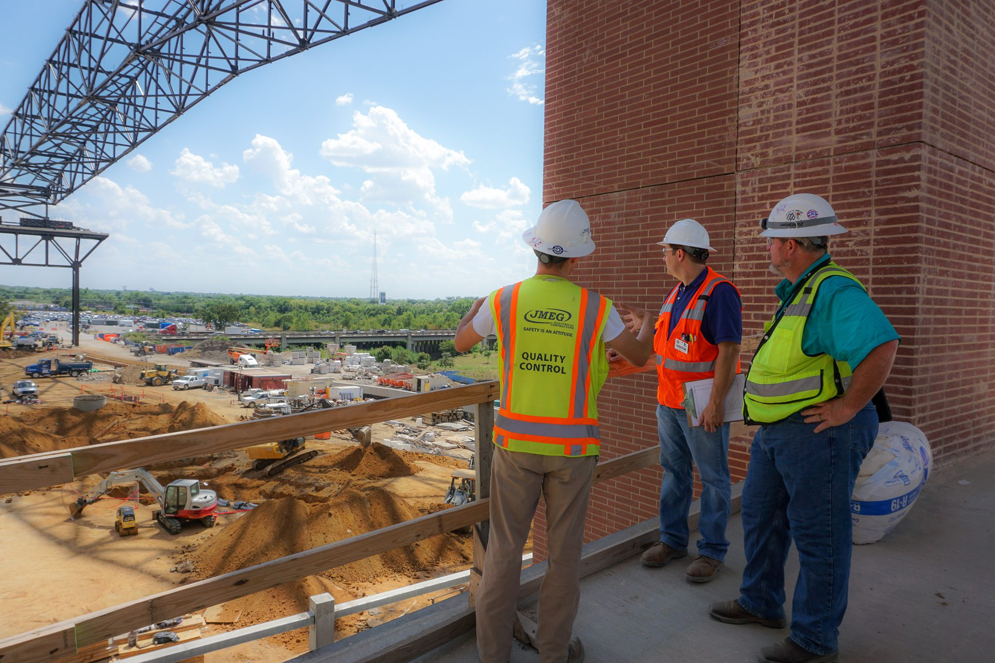 RWB Consulting Engineers overlooking the construction at Globe Life Field