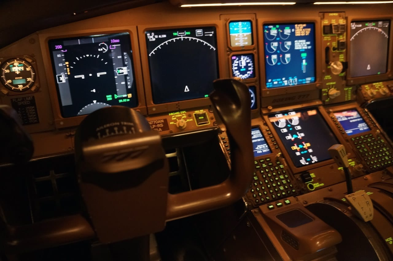 American Airlines flight simulators interior