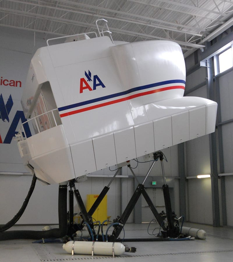 American Airlines flight simulators in progress