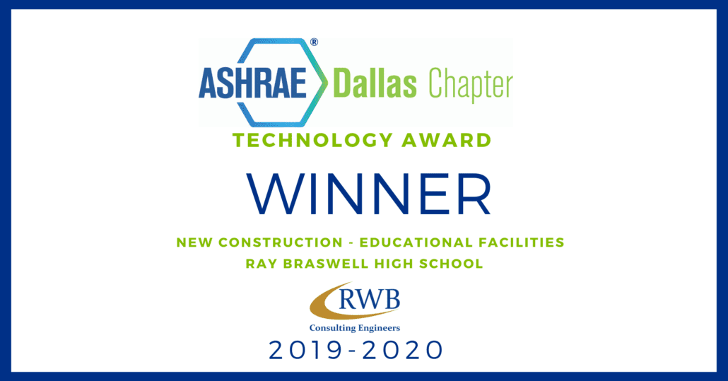 ASHRAE Dallas Technology Award Winner 2019-2020
