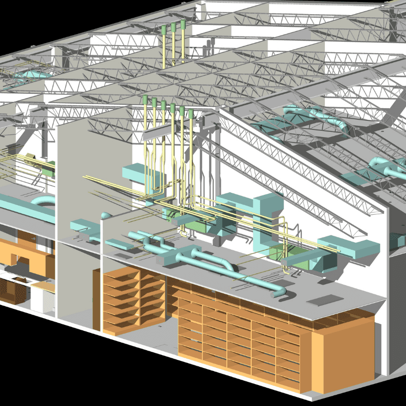 Revit BIM Model of a Library